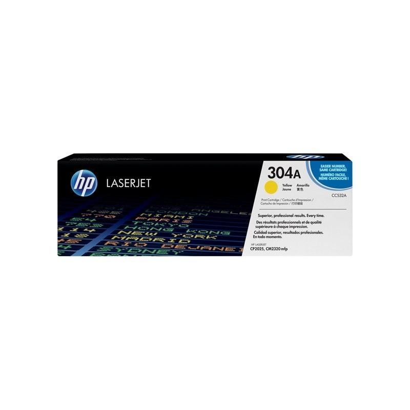 HP kassett No.304A Kollane (CC532A)