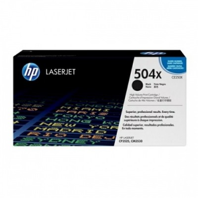 HP kassett No.504X Must (CE250X)