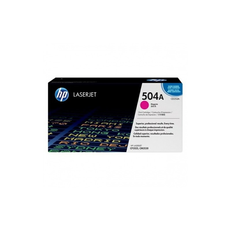 HP kassett No.504A Roosa (CE253A)