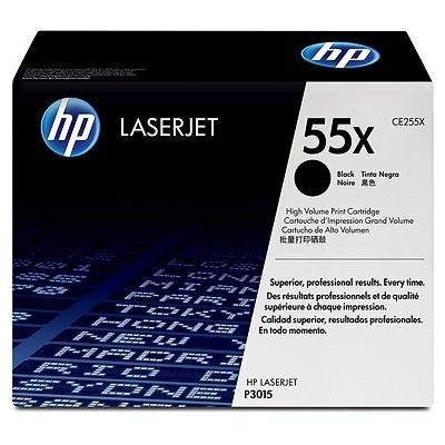 HP kassett No.55X Must (CE255X)