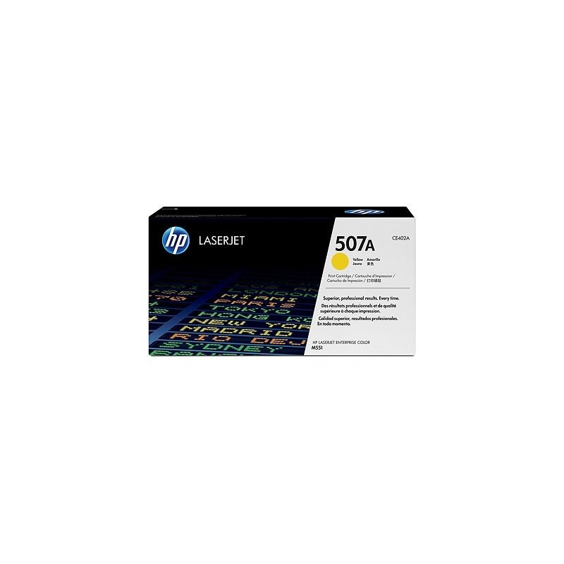 HP kassett No.507A Kollane (CE402A)