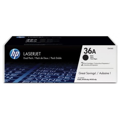 HP CB436AD No.36AD Dual Pack Must kassett (CB436AD)