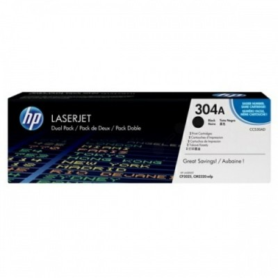 HP No.304A Dual Pack Must kassett (CC530AD)