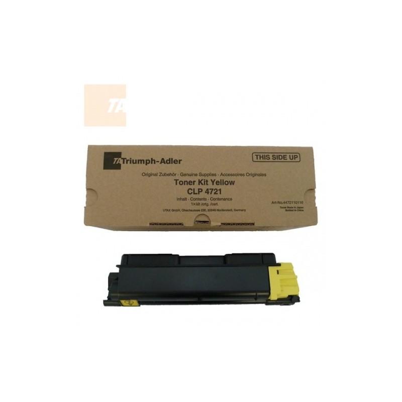 Triumph Adler tooner Kit CLP 4721 2,8k/ Utax tooner CLP 3721 Kollane (4472110116/ 4472110016)
