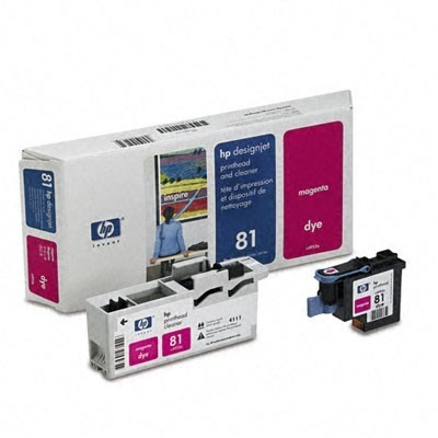 HP Printhead + Cleaner Roosa No.81 (C4952A)