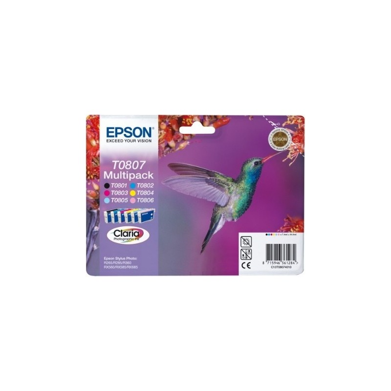 Epson Ink Color Multipack T0807 (C13T08074011)