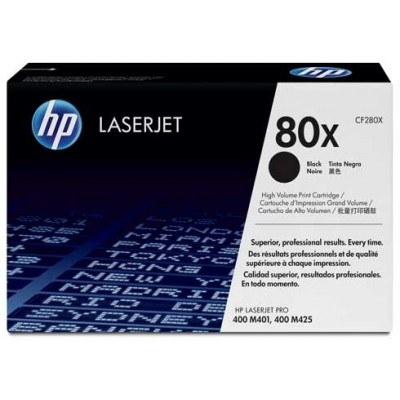 HP kassett No.80X Must (CF280X)