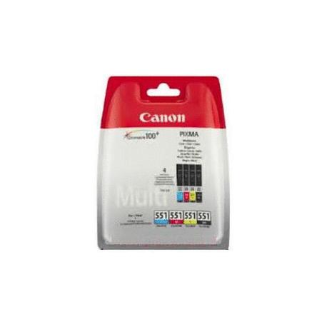 Canon Ink CLI-551 Multipack C/M/Y/BK Bliste (6509B009)(6509B008)