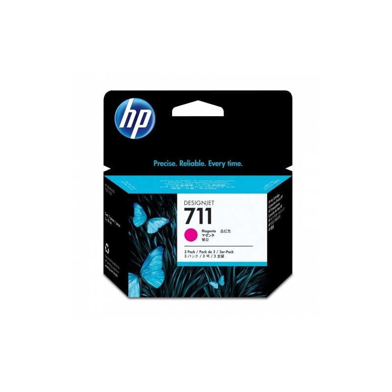 HP Ink No.711 Roosa tri-pack (CZ135A)