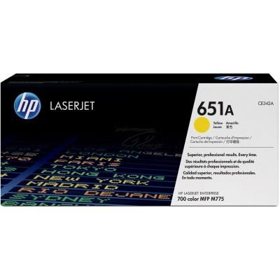 HP kassett No.651 Kollane (CE342A)