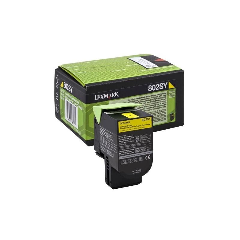 Lexmark kassett 802SY0 Kollane (80C2SY0)