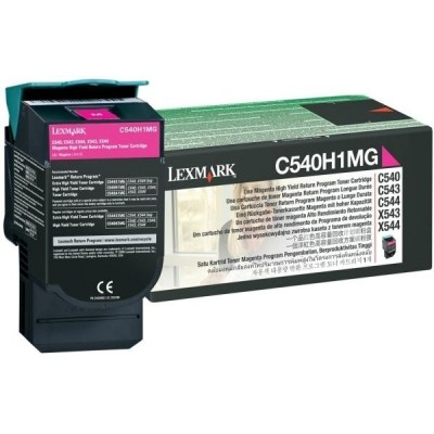 Lexmark kassett Roosa (C540H1MG) Return