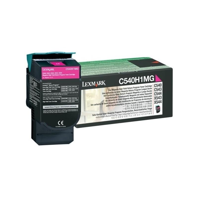 Lexmark kassett Roosa (C540H1MG) Return