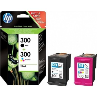 HP Ink No.300 Combopack Must / Tricolor (CN637EE)