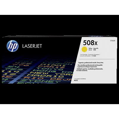 HP kassett No.508X Kollane HC (CF362X)
