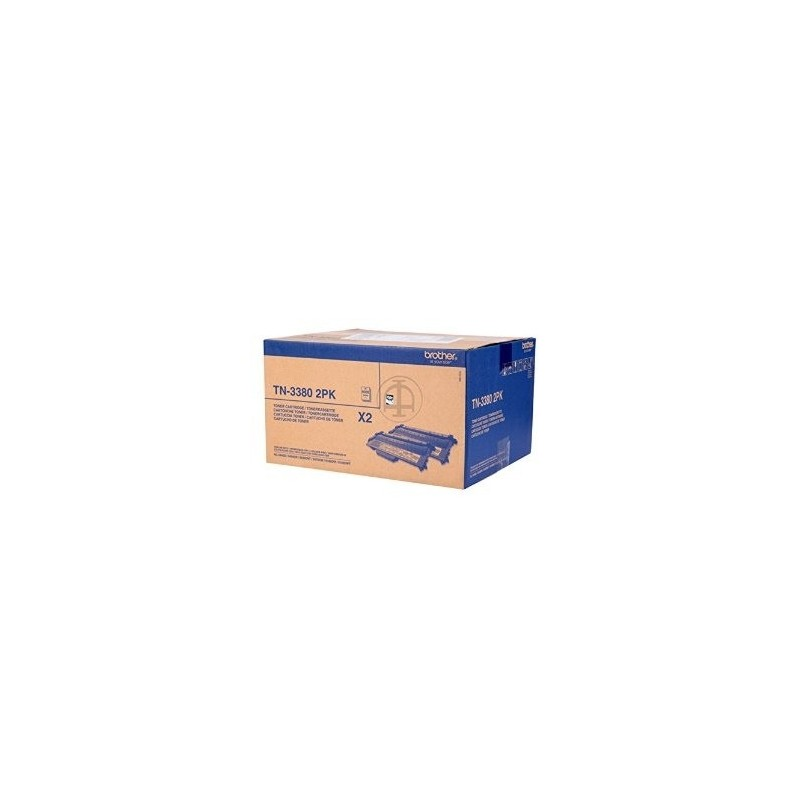 Brother kassett TN-3380 Twin Pack (TN3380TWIN)
