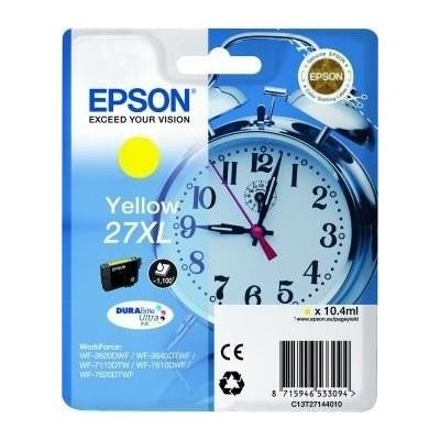 Epson Ink No.27XL Kollane (C13T27144012) 1,1k DURABrite Ultra 27XL
