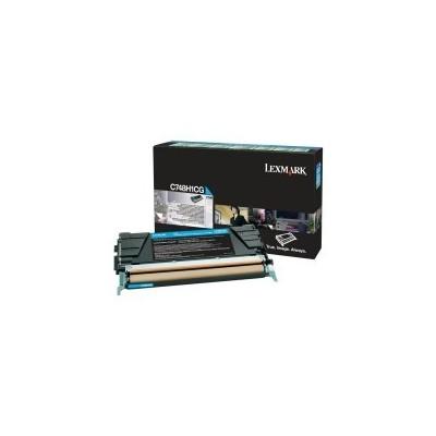 Lexmark kassett Sinine HC (C748H1CG) Return
