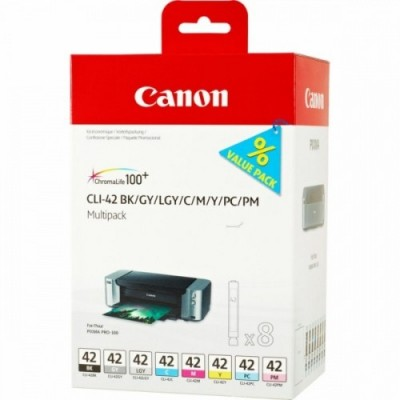 Canon Ink CLI-42 Multipack Full 8-Inks (6384B010)