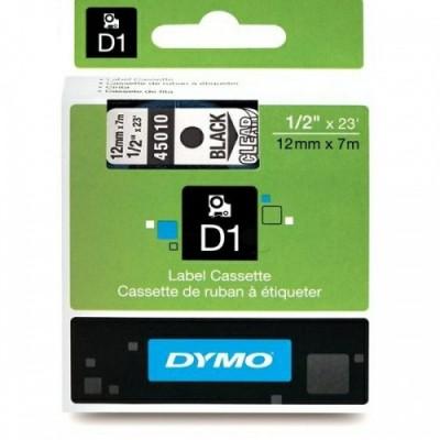 Dymo Schriftband 45010 Clear/Must (S0720500)