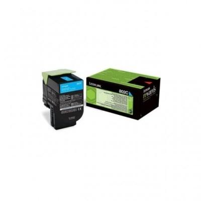 Lexmark toonerikassett return cyan (80C20C0, 802C)