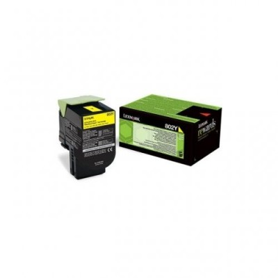 Lexmark toonerikassett return yellow (80C20Y0, 802Y)