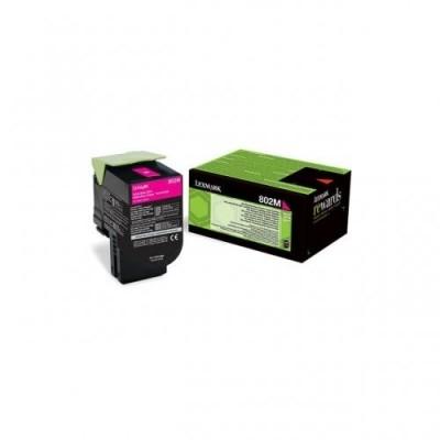 Lexmark toonerikassett return magenta (80C20M0, 802M)