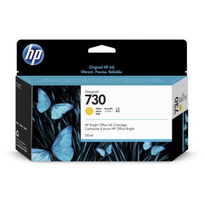 HP 730 130-ml Kollane DesignJet Ink kassett (P2V64A)