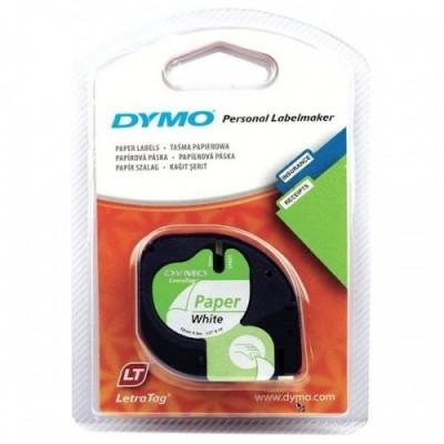 Dymo Schriftband 59421 White Paper 12mm