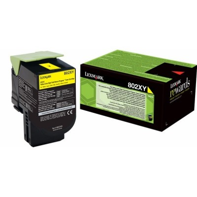 Lexmark kassett 802YX Kollane (80C2XY0) Return