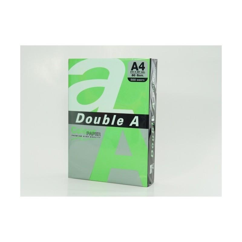 Värvilised paberid Double A, 80g, A4, 500 lehte, Parrot