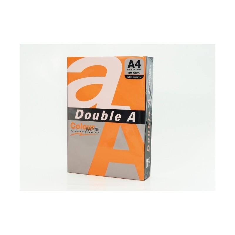 Värvilised paberid Double A, 80g, A4, 500 lehte, Saffron